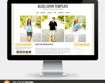 Items Similar To Premade Blogger Template Photography