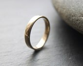 9ct Yellow Gold Wedding Ring, Womens Wedding Band, 3mm, Shiny Finish, Custom Size