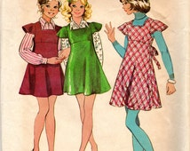"Clearance 1970s Girls' Jumper, Dress & Blouse Pattern- Size 7, Breast 26"" - Simplicity 5820"