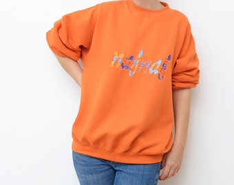Vintage NAF NAF 90s orange sweater