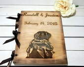 Personalized Wedding Guest Book,Hunters, Hunting Wedding, Personalized Album, Wedding Guest Books, Bride and Groom