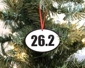 26.2 Running Christmas Ornament - Great gift for marathon runners!