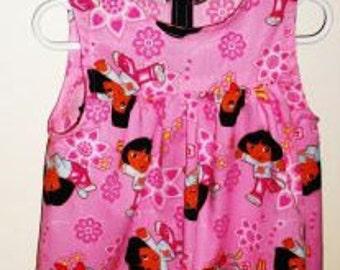 Dora the Explorer   toddler girls jumper sleeveless dress