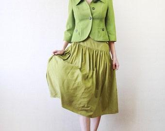 Short fitted grass green blazer jacket XS-S