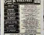 1954 Drive In Theatres of New Orleans Coaster