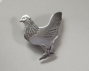 Hen Chicken Brooch