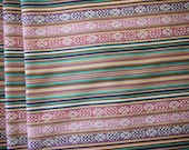 Peruvian Fabric, Andean Fabric, Woven, Purple Cruza, 2 Yards