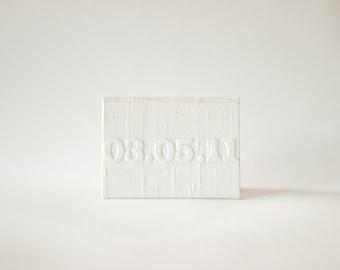 Vow Holder™ Pocket Sized Personalized Wedding Vow Silk Folio Keepsake - Embossed Wedding Date Holder