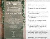 Wedding Menu Typography Sign - Wall Decal Custom Vinyl Art Stickers