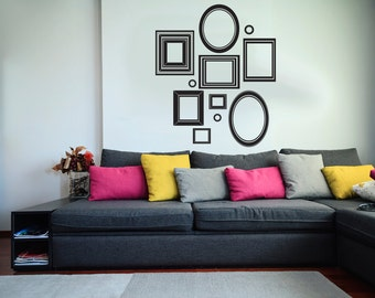 Vinyl Wall Art Decal Custom Stickers - Picture Frames Collage