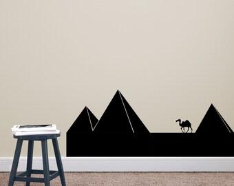 Pyramids - Vinyl Travel Wall Art Decal Custom Stickers