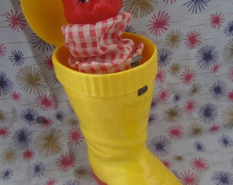 Knickerbocker, puss n boots, pop up toy jack-n-the-box, toy