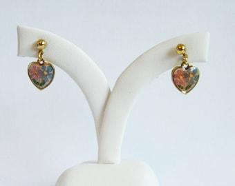 Vintage Heart Earrings - V0115
