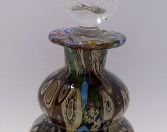Millefiori Perfume Bottle and Stopper