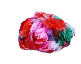 pink scarf - Neon Flash  -  hot pink, green, red, orange, neon silk scarf.