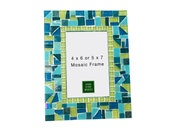 Turquoise and Lime Green Mosaic Picture Frame