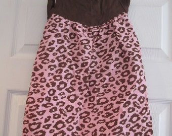 Pink & Brown Leopard Dress, Girls Dress, Leopard Print, Custom, Toddler