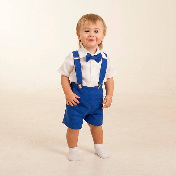 Ring Bearer Outfits Boy Royal Blue Outfits Boy Shorts With