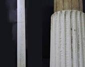 Pair Antebellum Fluted Wood Columns. Architectural Salvage.
