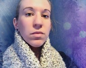 Wool Oatmeal Winter Scarf - Thick, Warm, Heavy, Soft, & Comfortable!
