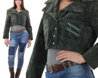 Boho Cropped jacket Crushed velvet jacket Mod zipper jacket Hippie jacket moto jacket Bohemian jacket Boho crop top Corduory jacket M L