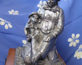 Vintage Michael Ricker Pewter Clown Nate Collectible Music Box Limited Edition Near MINT