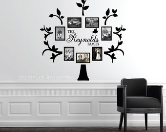 Family Tree Photo Wall wall decal tree | etsy