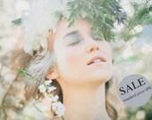 20% SALE - Heaven jasmine printed chiffon top