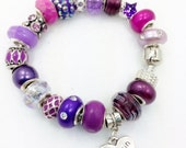 Purple Cousin Charm Bracelet