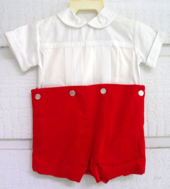 Vintage red velvet shorts and white shirt sizes 3 and 9 for Red velvet button up shirt