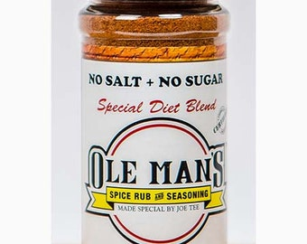 Ole Man's Spice Rub & Seasoning - New! Special Diet Blend NO SALT no SUGAR - 3.6 oz.Free Shipping