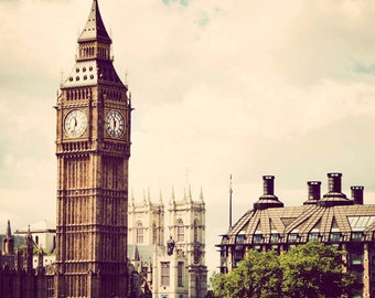 Square London photograph, Big Ben, fine art photography, travel, England picture, 10x10 - Classic London