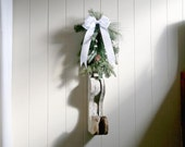 Vintage Architectural Salvage Christmas Decoration shabby cottage chic industrial loft decor corbel old wooden trim