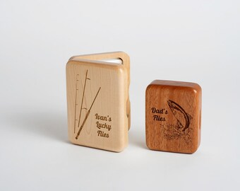 Personalized fly fishing box father 39 s day gift fishing for Fishing gift box