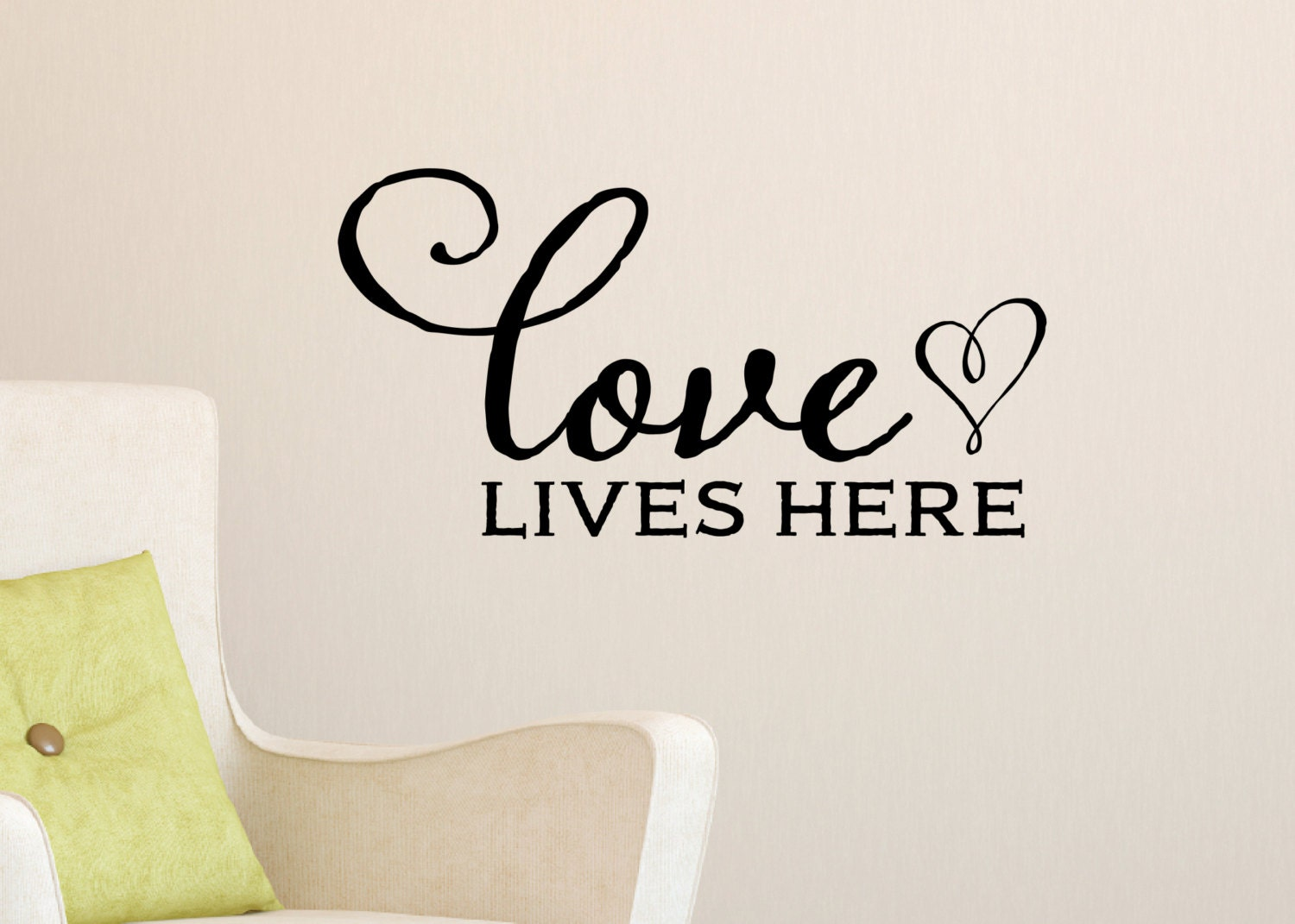 Love Lives Here Wall Decal Family Picture Wall Living Room