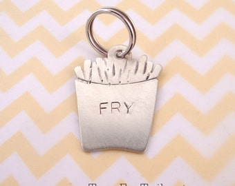 French Fry Pet ID Tag - Custom Dog or Cat Pet ID Tag- Handmade