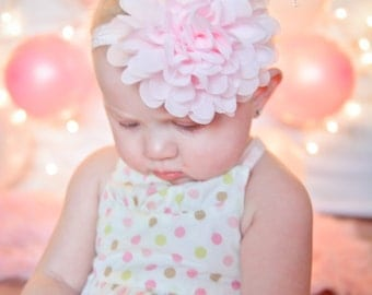 Baby Headband, Headband,  Infant Headband, Newborn Headband, Light Pink Headband, Light Pink Headband, Light Pink Baby Headband