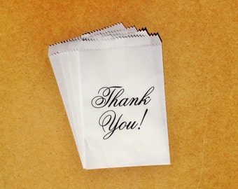 Custom 'Thank You' Glassine Gift Treat Party Cookie Candy Bags