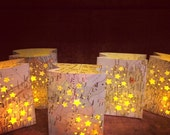 20 Mini Map Luminaries,Travel Decor, Map Escort Cards, Travel, Wedding Travel Theme, Seating Chart, Table Numbers, Favors, Place Cards
