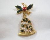 Vintage Christmas Bell Pin