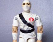 Un-Painted Hip Factory Error Storm Shadow 100% Complete C8 Super White Vintage 1984 GI Joe