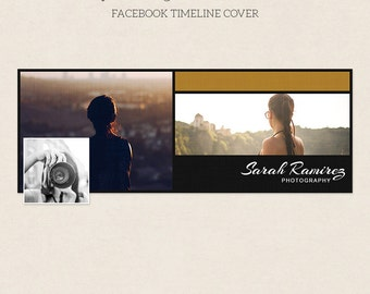 Facebook Timeline Cover - Facebook Timeline Template - PSD Template - Customize Facebook Page - Instant Download - F220