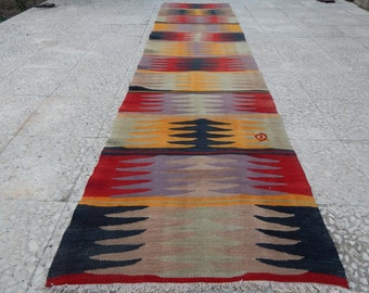 Soft Handwoven Traditional Turkish Wool Kilim By Pillowsstore
