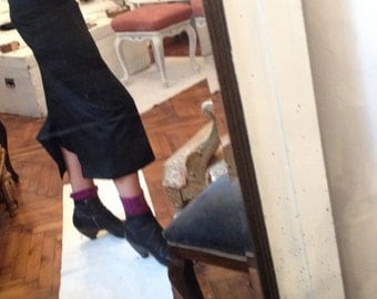 Avant garde Black Mid length skirt / Wool / M / L / Yamamoto
