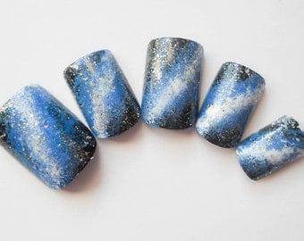 24 Set / Fake Nails / Milky Way / Galaxy / False Nails / Press on Nails
