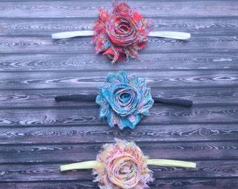 Set of Three Paisley Shabby Chic Headbands, lace headband, baby headband, adult headband, newborn headband