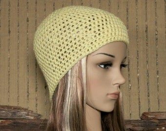 Crochet Hat, Womens Beanie, Lemon Beanie, Winter Wool Hat, School Student Beanie, Australia