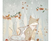 "Art Print - ""Valentine Foxes"""