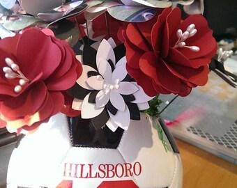 Soccer Bouquet, Soccer Coach Gift, Soccer Ball Bouquet , Soccer Ball Roses , Soccer Ball Senior Gift, Soccer Coach Gift