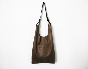 Brown leather bag - leather tote bag - women handmade bags SALE leather shoulder bag leather handbag leather purse gray leather bag